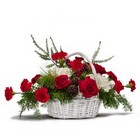 Holiday Basket Bouquet from Joseph Genuardi Florist in Norristown, PA