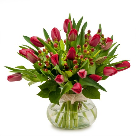 Berries & Tulips from Joseph Genuardi Florist in Norristown, PA